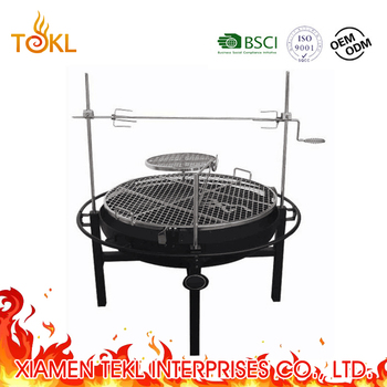 "Well Sell Easy-Using Large 39"" Multi-function BBQ Grill for Family Camping and Picnic"