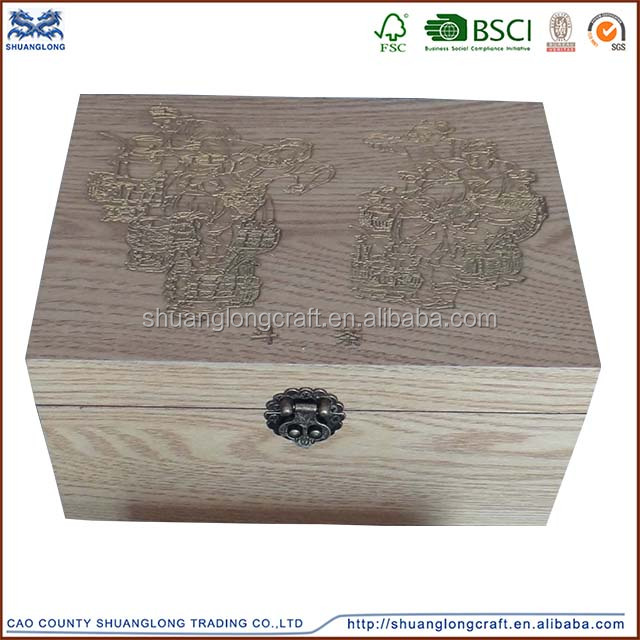 home custom fancy decorative wooden storage box with lids wholesale