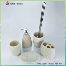 2017 Hot Item Wholesale Polyresin Bathroom Accessories Complete Set