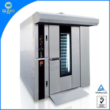 Factory supply gas bread baking bakery rotary convection rotary rack oven for sale
