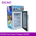 Single-temperature Style Mini ice cream display freezer for sale