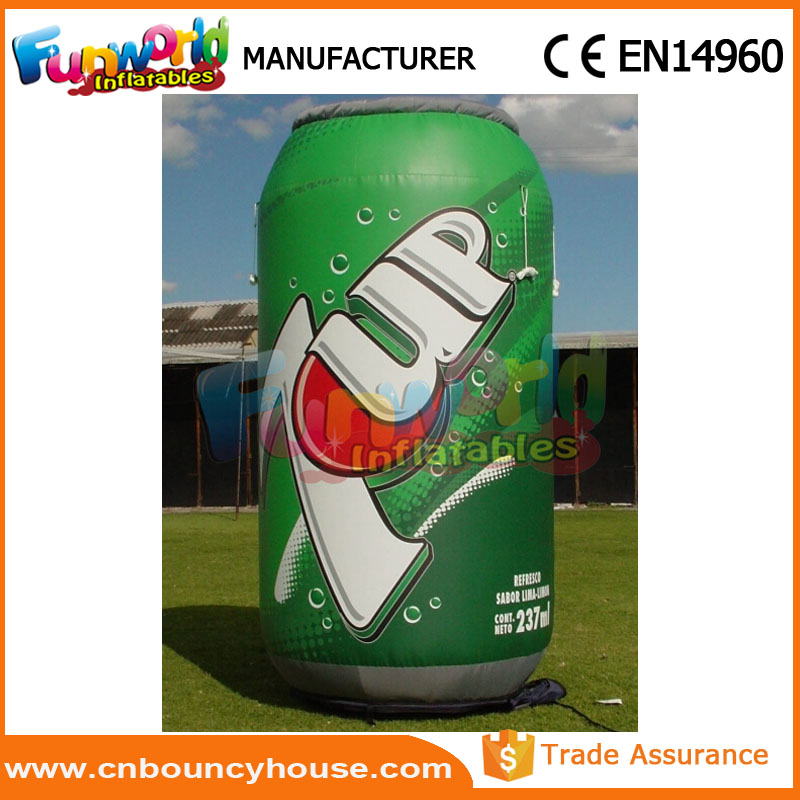 Hot sale inflatable can replica giant inflatable characters