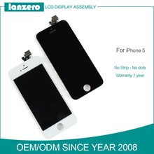 Top quality LCD screen for iphone 5 , touch screen display replacement for iphone 5 lcd dispaly