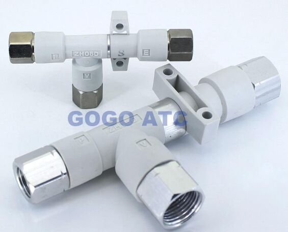 GOGO ATC Pipe type Vacuum generator ZH10DS-01-01-01 -88kPa thread Rc1/8 SMC type Screw-in connection