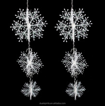 Cheap Wholesale 11CM White Plastic Christmas Ornaments Snowflakes