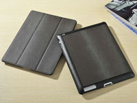 Hot sell pu rotary leather case for ipad 2,stylish factory price cover for ipad 3,fashion smart back case for ipad 4
