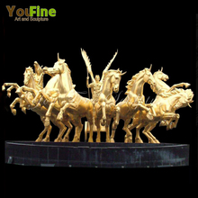 Large outdoor garden bronze horse water fountain for sale