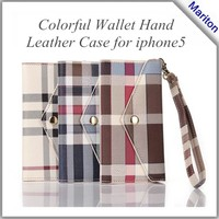 England Grid style Flip PU Leather Stand Case For iphone5,grid style case for iphone 5s