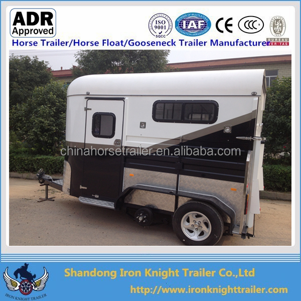 2017 hot sale deluxe China 2 horse straight load horse trailer with Australian Standards