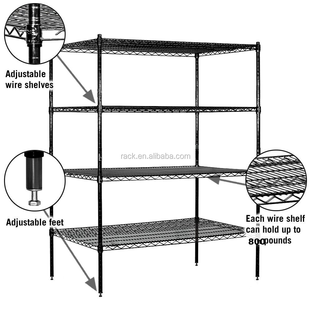 C11-Boltless Wire Shelving Type and Corrosion Protection Feature Angle Iron Storage Racks