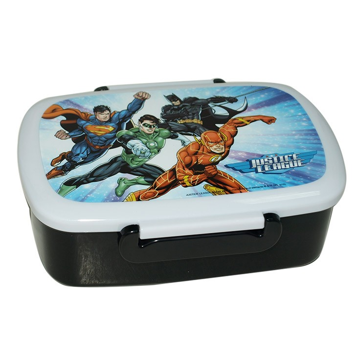 Factory audited foodgrade plastic lunchbox with cartoon logo