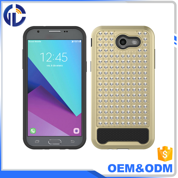 alibaba hot hard pc tpu phone diamond case for samsung galaxy j3