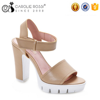 summer beautiful girls sandals womens shoes large size shoes high heel pu sandals dubai