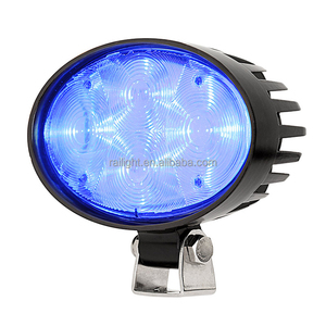 12w backup safety warning truck work lamp led blue spot light for forklift