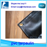 18oz heavy duty fire resistant pvc coated fabric tarpaulin for trucks