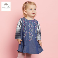 DB3159 dave bella spring autumn baby girls denim dress new boutique baby clothes infant cloth toddle dress