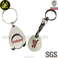 Wholesale Trolley Coins Token Keyring Metal Keychain Shopping Cart Coin