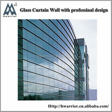 Unitized curtain wall for commercial building