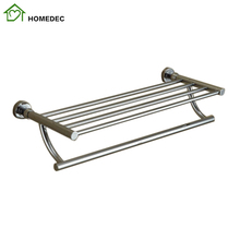 Bathroom Kitchen Solid Brass Towel Holder 3 Rod Towel Bar Belt Towel Rack Bathroom Accessories