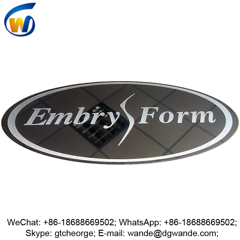 3m adhesive custom engrave shiny mirror stainless steel sticker