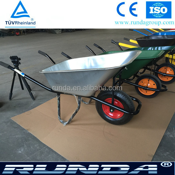 Qingdao make construction galvanised tub wheelbarrow