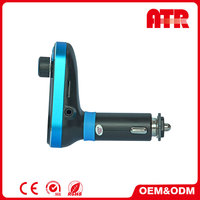 China factory cheap price good quality 87.5-108.0MHZ Blue car bluetooth kit
