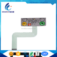 Fashionable Custom Design Lexan Overlay Membrane Keyboard With 3M Adhesive