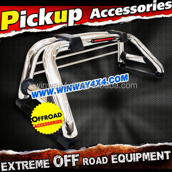3'' OR 4'' STAINLESS STEEL PICKUP D-MAX ROLL BAR WITH STOP LIGHT