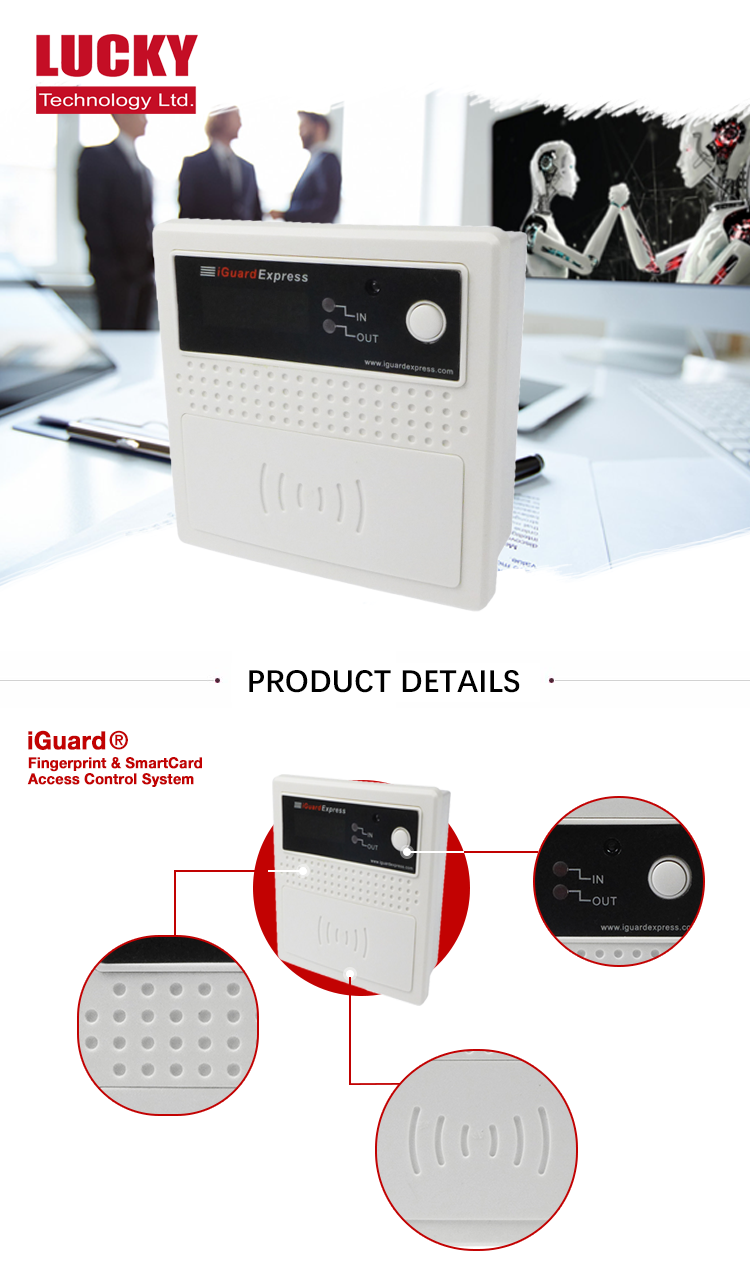 High Quality Smartcard Built-in Camera Time Attendance Control System