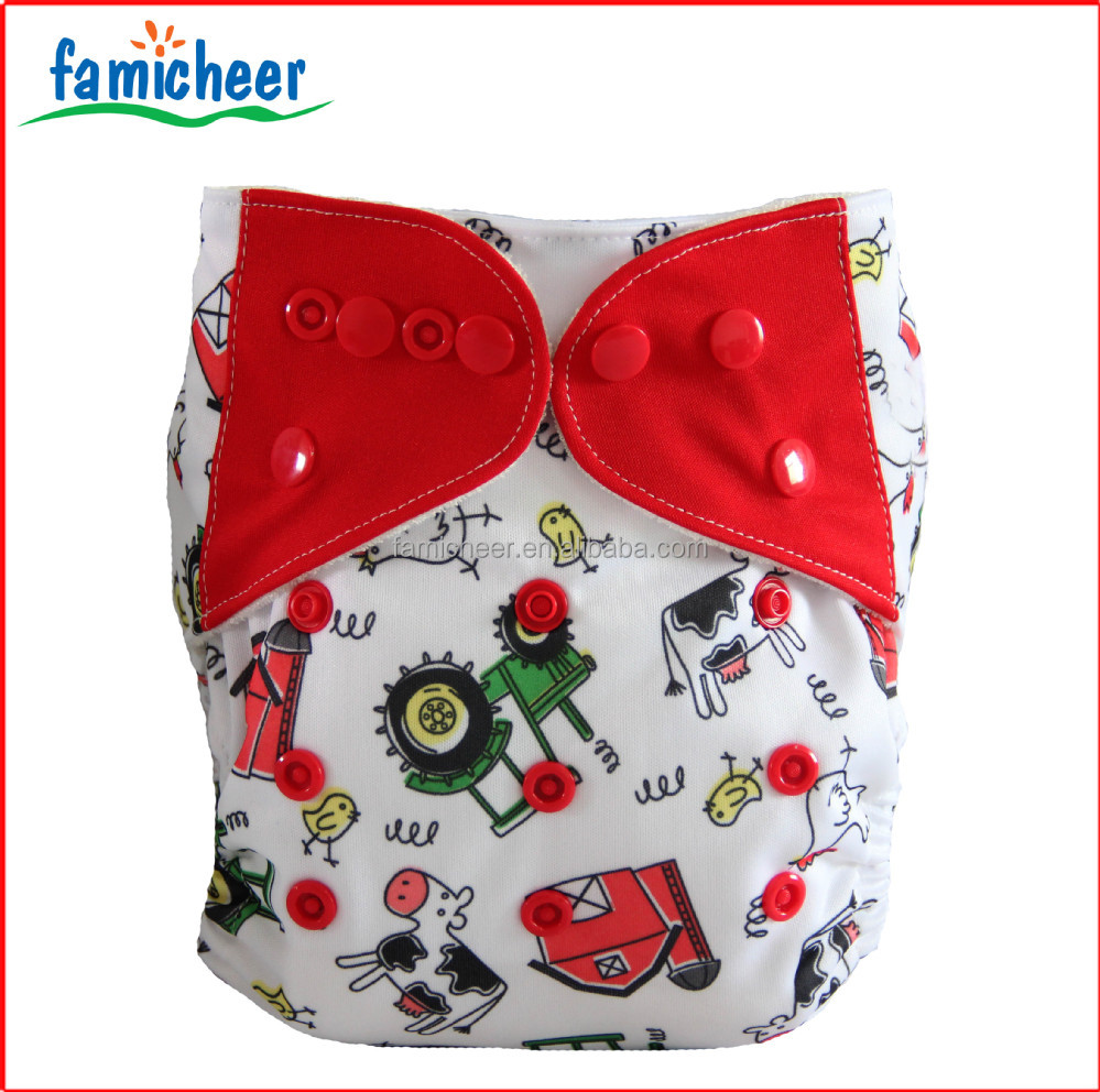Famicheer Colored Snaps Personal Label Reusable Cloth Nappies