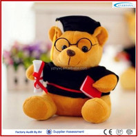 OEM personalized dressed teddy bear with glasses glasses teddy bear