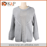 grey woolen sweater designs for ladies