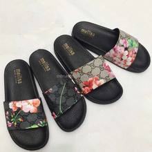 new design printing anti-skip slide <strong>sandal</strong> for lady