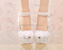 8cm/10cm/12cm/14cm thin heels crystals comfortable stable ivory/white wedding shoes for woman MS929