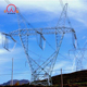 132kv hot-dip galvanized electrical power transmission line steel tower