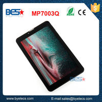 Top grade 7 inch mtk8312 dual core sim card 3g download free mobile games 3g tablet