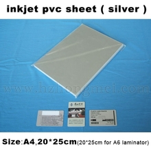 Hot Sale Wholsale Price soft pvc material Silver laminating Inkjet Printing PVC Sheet 210*297mm*0.3mm