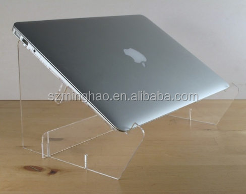 desktop acrylic lucite display laptop computer stand