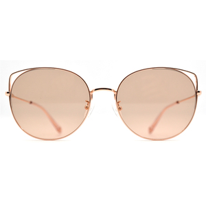 2019 New arrival retro round metal sunglasses with gradient color sun-lens