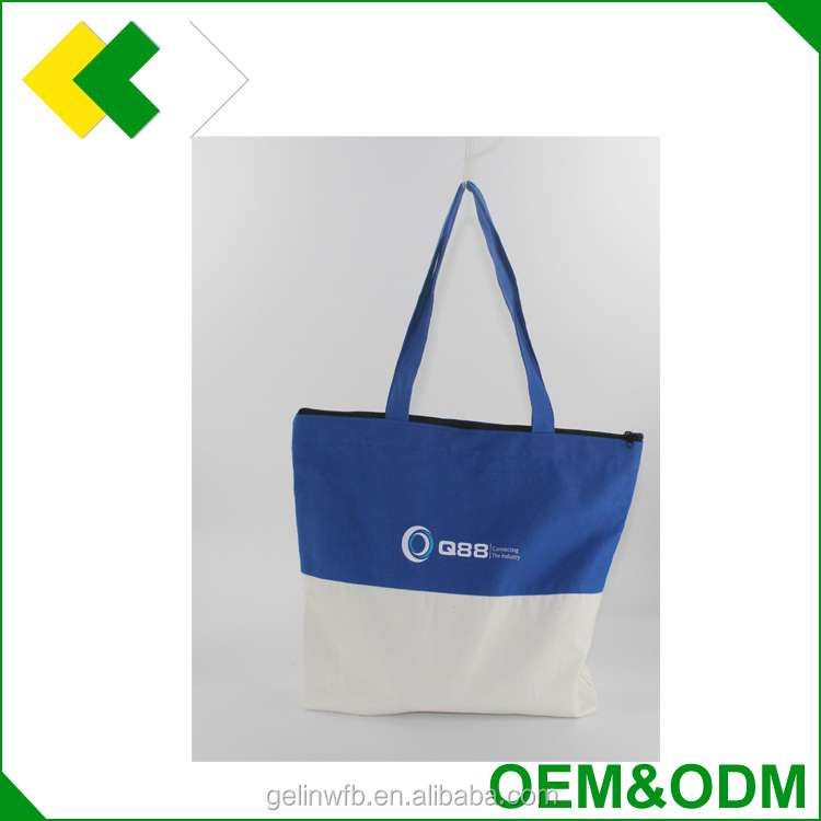 Wholesale new design good quality canvas fabric popular cloth tote bags