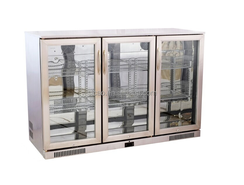 Double Glass Door Mini Refrigerator,Fridge For Coca Cola ...