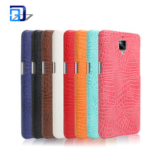 Premium Genuine Crocodile Pattern PU Leather Case Slim Hard Cover Cell Phone Case For One Plus 3
