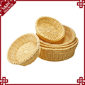 Wholesale small wickerwork fruit baskets round shape hand woven baskets