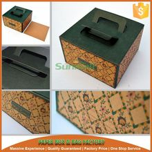 custom kraft paper cake box with handle