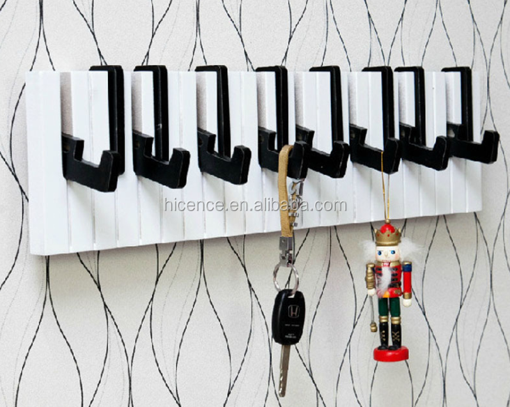 Creative black resin crafts bird hanger hook