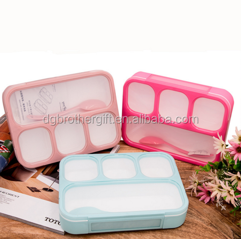100ml leakproof lunch box/tableware/multi-compartments plastic bento lunch box
