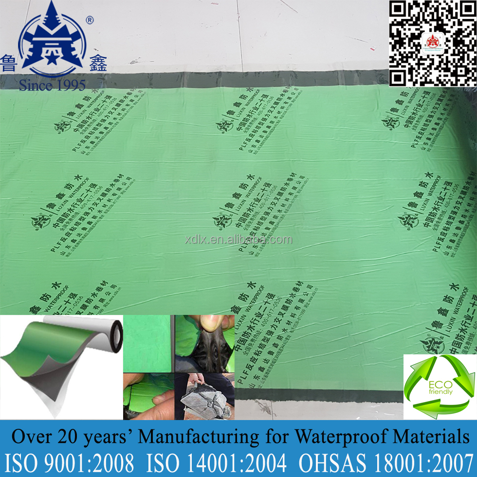 High quality self adhesive rubber bituminous waterproof membrane for roof