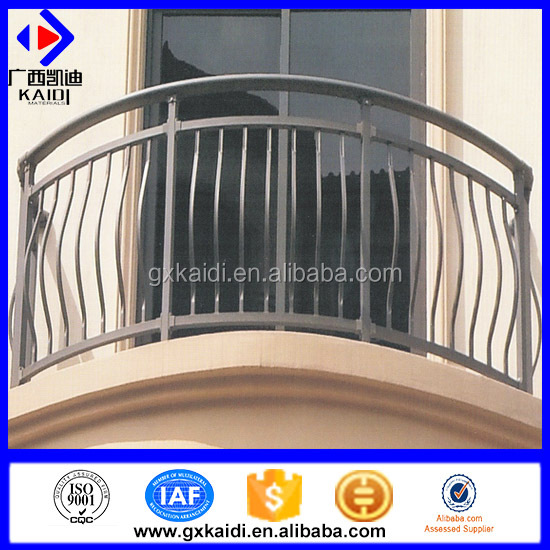 High Security Metal balcony rail for hotel/glass balustrade/ railing designs in india
