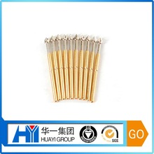 High precision copper gold plating pogo loaded pin