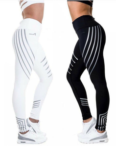 2018 new reflective sports gym workout tights leggings for women
